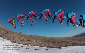 camera embarquée GoPro hero hd 2 photos snowboard