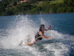 chute en wakeboard