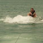 sortir de l'eau en wakeboard