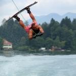 wakeboarder en action
